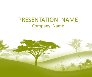 trees powerpoint template - templateswise, Powerpoint templates