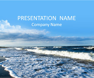 Waves on the Beach PPT Background