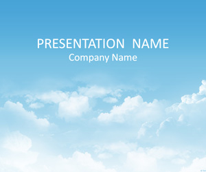 sky powerpoint background - templateswise, Modern powerpoint