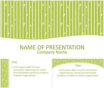 Bamboo PowerPoint Template