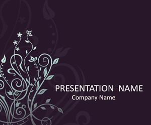 Floral Pattern PowerPoint Background