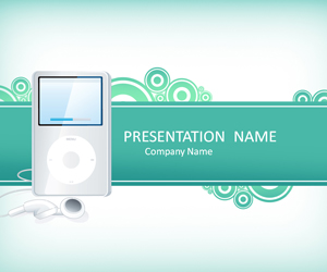 Mp3 Player PowerPoint Template