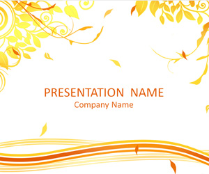 autumn powerpoint template templateswise com