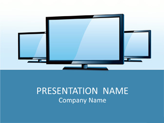 LCD TV PowerPoint Template