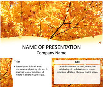 Maple leaves powerpoint template templateswise maple leaves powerpoint template toneelgroepblik Gallery