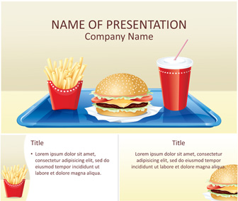 Fast food powerpoint template templateswise fast food powerpoint template toneelgroepblik Gallery