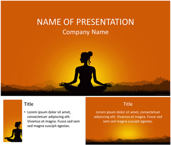 meditation powerpoint template - templateswise, Presentation templates