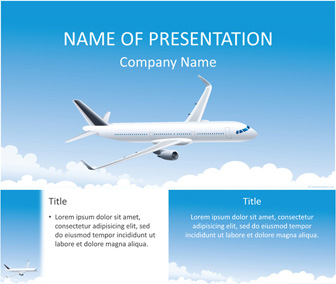 Airplane powerpoint template templateswise airplane powerpoint template toneelgroepblik Choice Image