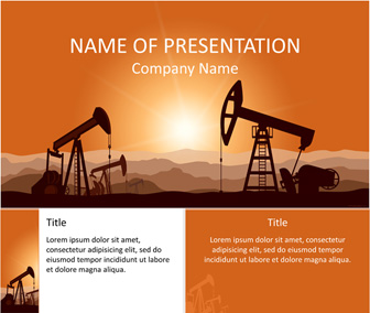 Oil field powerpoint template templateswise oil field powerpoint template toneelgroepblik Image collections