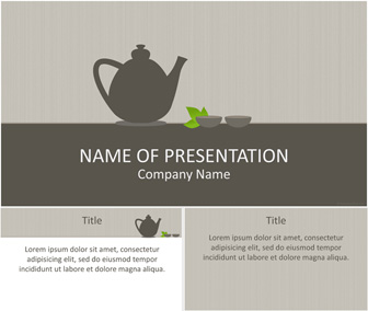 Tea Time Powerpoint Template Templateswise Com
