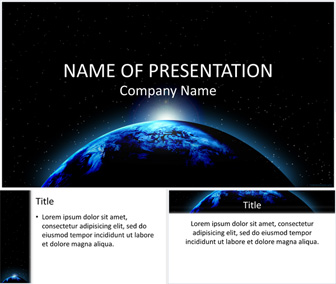 planet earth powerpoint template - templateswise, Modern powerpoint