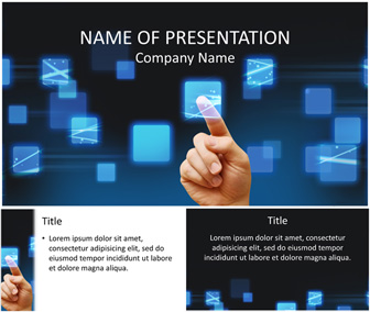Touch Screen PowerPoint Template