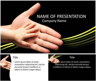 Baby's Hand PowerPoint Template