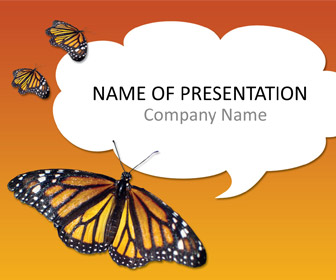 Monarch Butterfly PowerPoint Template