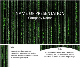 matrix code powerpoint template - templateswise, Powerpoint templates