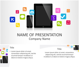 Mobile Applications PowerPoint Template - Templateswise.com