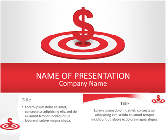dollar sign on target powerpoint template - templateswise, Modern powerpoint