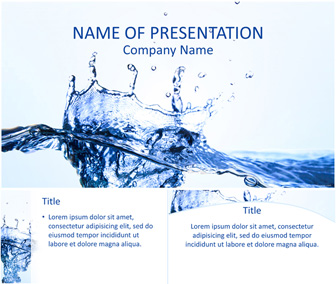 Water splash powerpoint template templateswise water splash powerpoint template toneelgroepblik