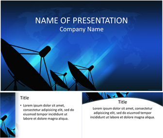 Parabolic antennas powerpoint template for Parabolic wifi antenna template