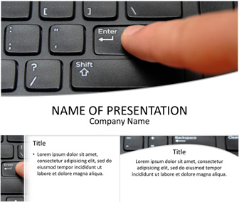 Computer Keyboard PowerPoint Template