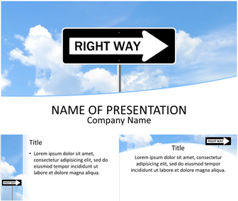 Right Way PowerPoint Template
