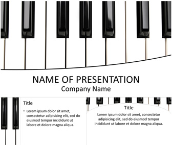 Piano Keys PowerPoint Template
