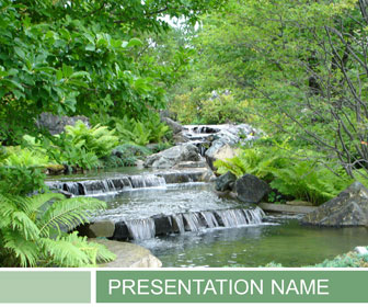 Waterfalls PowerPoint Template