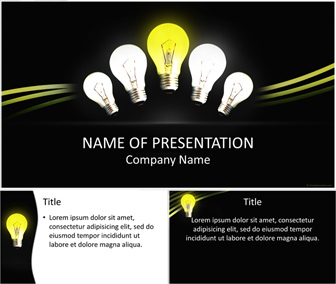 light bulbs powerpoint template - templateswise, Powerpoint templates