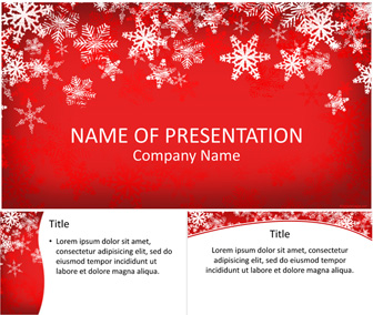 snowflakes powerpoint template - templateswise, Modern powerpoint