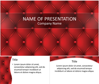 Red Leather PowerPoint Template