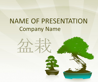 Bonsai Trees PowerPoint Template