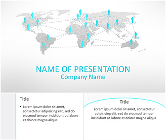 Business network powerpoint template templateswise business network powerpoint template flashek Images