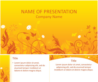 Summer Flowers PowerPoint Template