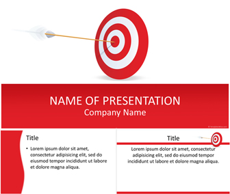 target powerpoint template - templateswise, Target Corporation Powerpoint Presentation Template, Presentation templates