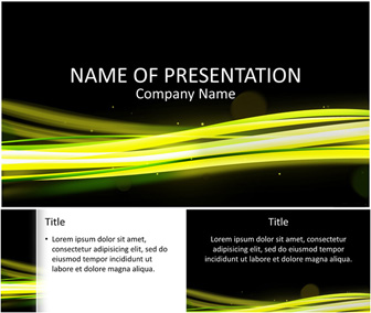 Light Streams PowerPoint Template