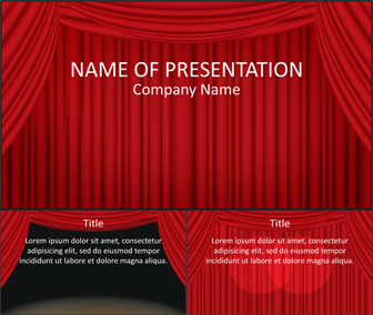 Stage Curtain PowerPoint Template