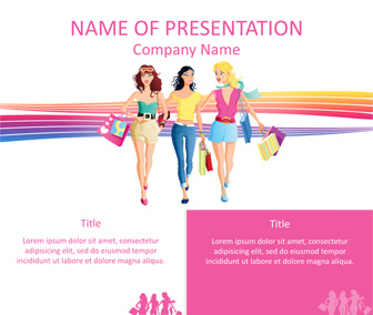 fashion girls powerpoint template templateswise com