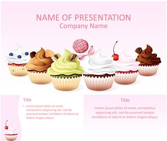 Cupcakes Powerpoint Template Templateswise Com