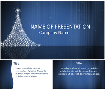 Christmas Tree PowerPoint Template