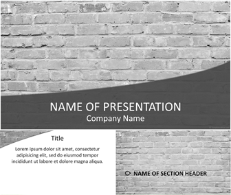 Brick Wall PowerPoint Template - Templateswise.com