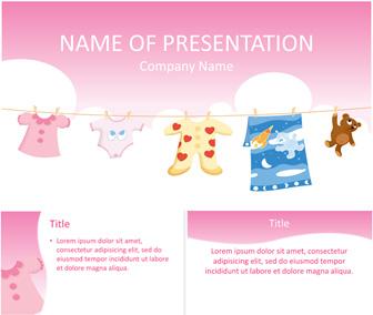 baby clothes powerpoint template templateswise com