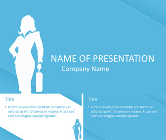 Business Woman Silhouette PPT Template