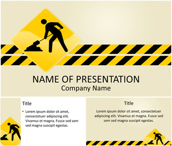 Under construction powerpoint template for Simple under construction html template