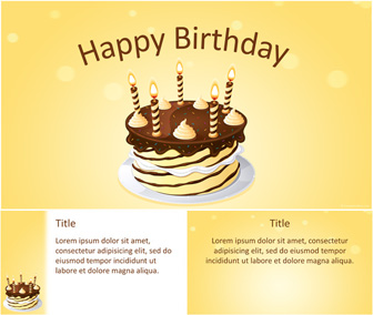 happy birthday powerpoint template templateswise com