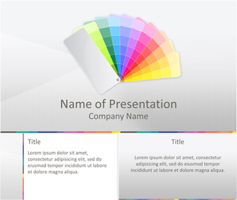 Color Swatch PowerPoint Template