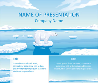 Polar bear powerpoint template templateswise polar bear powerpoint template toneelgroepblik Images