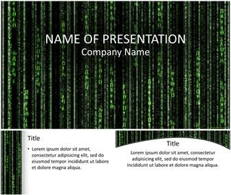 Matrix Code PowerPoint Template