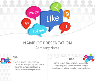 Social media bubbles powerpoint template templateswise social media bubbles powerpoint template toneelgroepblik Images