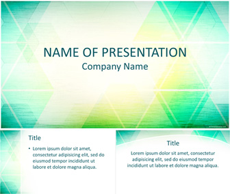 Abstract Triangles PowerPoint Template