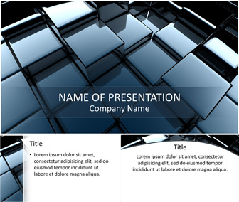 Abstract 3D Cubes PowerPoint Template